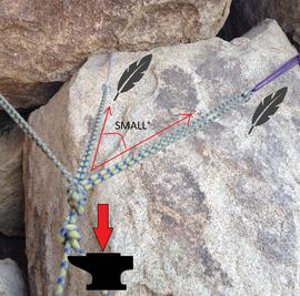 3 tailed figure 8 rock climbing knot - rock climbing anchor in Joshua Tree