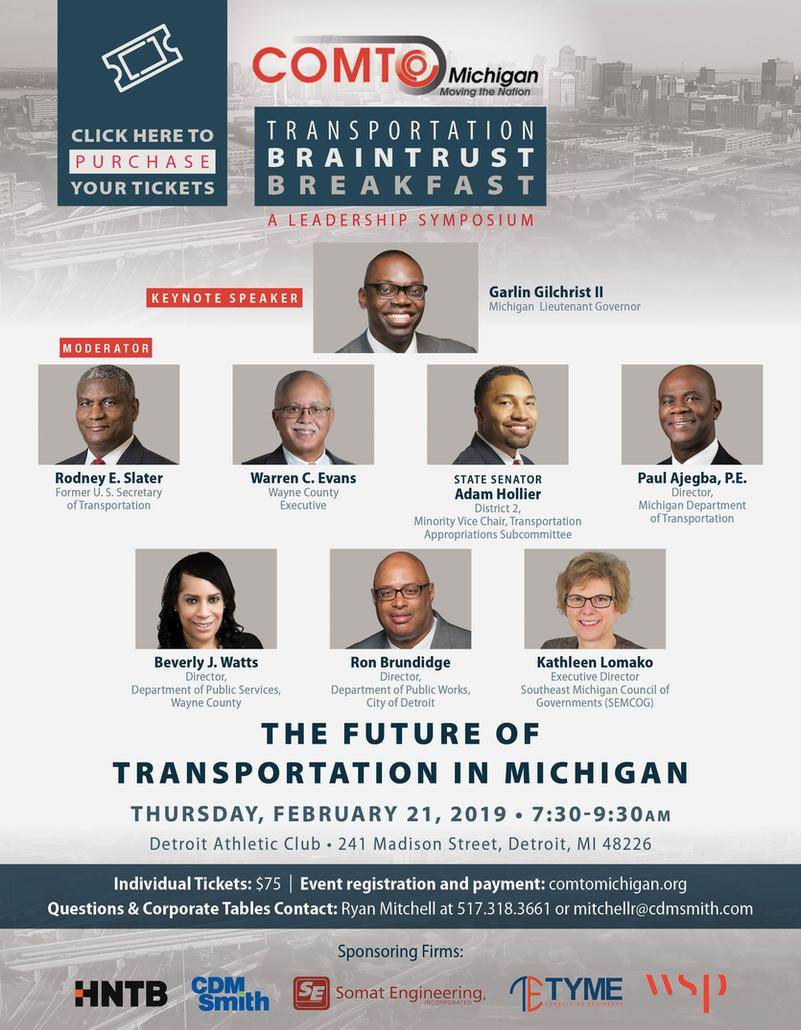 COMTO MI Events: Transportation Braintrust Breakfast