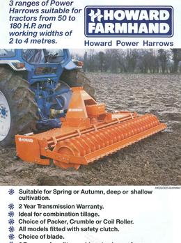 Howard Power Harrows Brochure