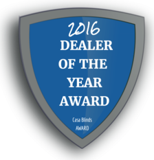 2016 CASA BLINDS dealer award