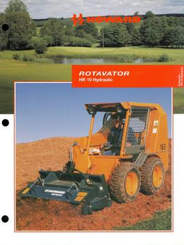 Howard Rotavator Model HR10 Hydraulic Brochure