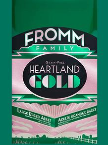 FROMM Heartland Gold Large Breed Adult Dry dog food comes in 26, 12 and 4 lbs bags