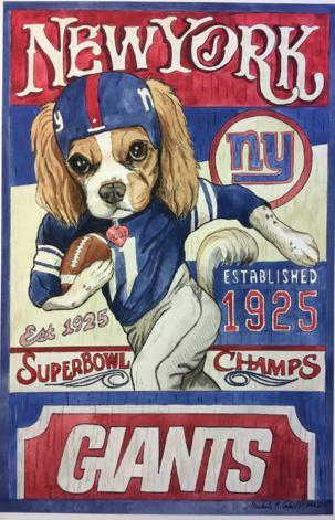 Pet Portrait Giants Fan