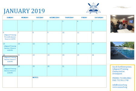 Click for a complete 2019 Training Calendar
