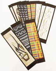 African Bookmarks - Set of 3