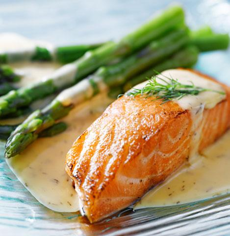 Fresh, wild caught, Atlantic Salmon grilled to perfection