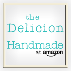 The Delicion on Amazon Handmade, for original artwork, hand-thrown ceramics, ceramic buttons, fabric market bags, block prints, and hand-carved unmounted stamps