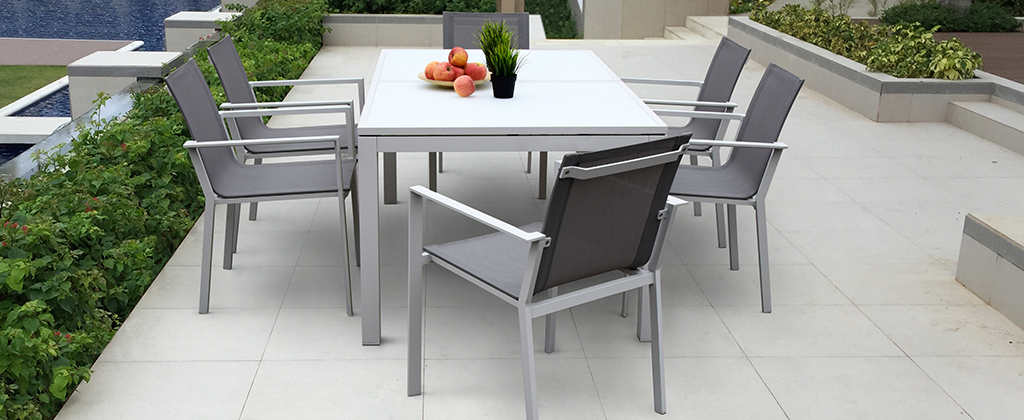 ab modern collections cast aluminum patio furniture outdoor wicker patio furniture - Modern Aluminum Patio Furniture