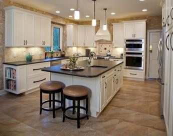 This kitchen has many features and functions. Lots of usable storage