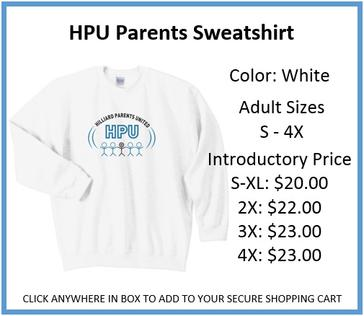 HPU Parents Sweatshirt White