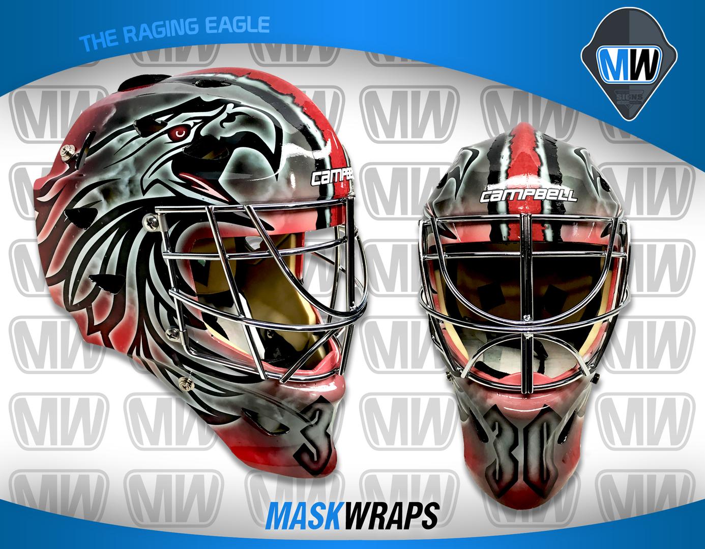 Get A Custom Designed Vinyl Wrap For Your Hockey Goalie Mask