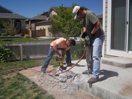Concrete Patio Removal Patio Concrete Breaking Service & Hauling ...