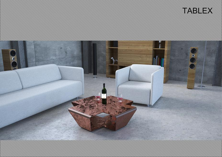 TABLE X COPPER TAVOLO IN RAME TAVOLINO RAGNO SNODATO PRODUCTION INDUSTRIAL DESIGN MODELLAZIONE 3D MODEL RENDERING DESIGN PROJECT DESIGN107