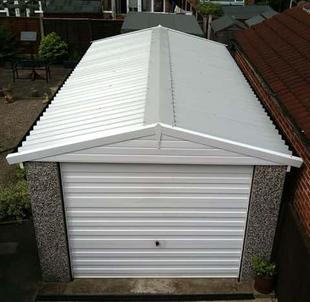 Refurbished Garage with new roof and fascias