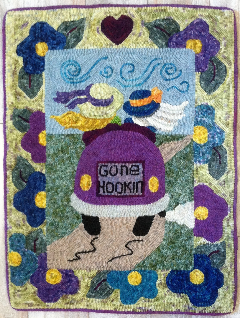 new river moose hooking hook folk barn garden rug pattern line of landscape patterns art paper