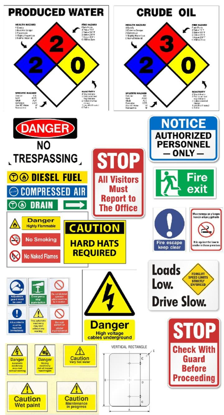 SAFETY SIGNS, OIL & GAS SAFETY SIGNS, EAGLE FORD SHALE ...