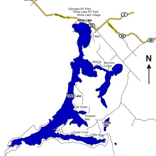 white lake ontario fishing map Map Of White Lake white lake ontario fishing map