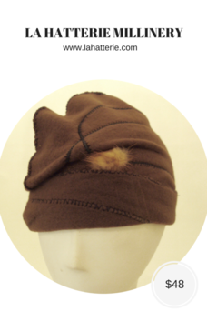 Fall/Winter Casual Hat- 1609-Felt Skull Cap
