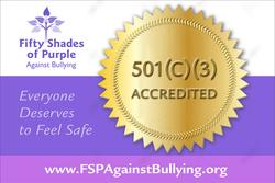Banner showing FSP Against Bullying is 501(C)(3) accredited