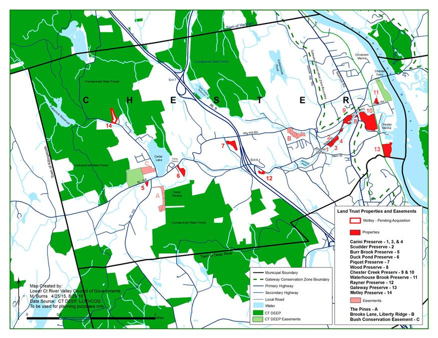 Chester Land Trust: Map on