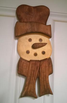 Easy Diy Carved Frosty The Snowman Christmas Decoration