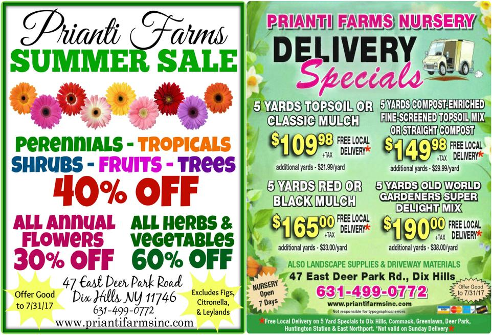 Prianti Bulk Mulch Soil Delivery Sale Summer Perennials Shrubs Trees Savings
