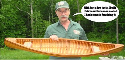 Canoe model kits, just like building the real thing!