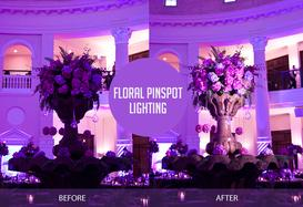 DJ KARZ offers accent and pin spot lighting based in Charlotte NC for your next big event