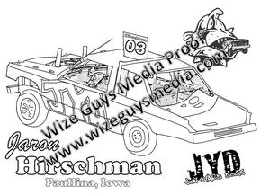 Printable Coloring Pages Of Demolition Derby Trucks