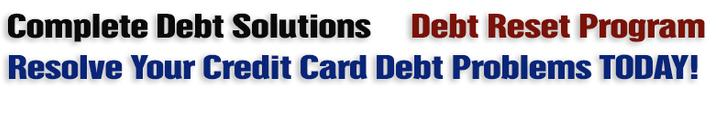 Credit Card Debt, Debt Consolidation and Debt Relief