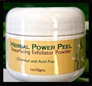 Herbal Power Peel Resurfacing Exfoliant Powder acne,