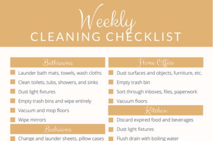 Ultimate Cleaning Checklist in Omaha NE │Price Cleaning Services Omaha