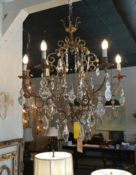 crystal french antique chandelier ceiling fixture