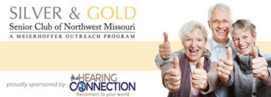 Hearing Connection Sponsor Banner Silver and Gold Senior Club