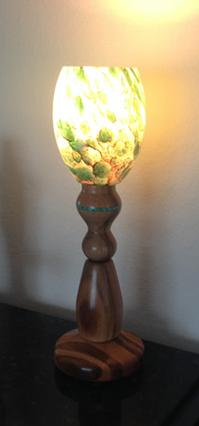 canary wood custom turned lamp