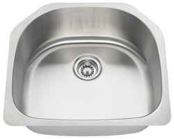 Solaris 1242 Single Bowl 'D' Sink Stainless Steel