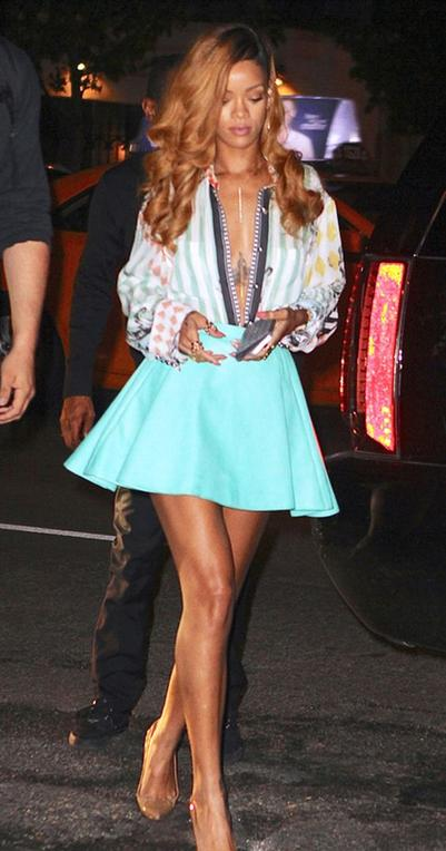 Rihanna's street fashion