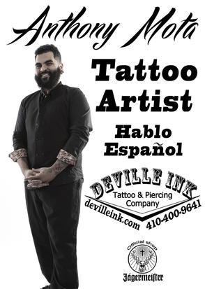 DeVille Ink Baltimore Maryland Anthony Mota