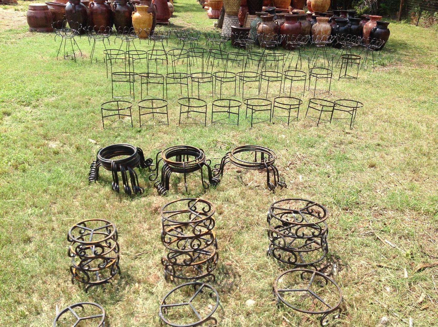 Wrought Iron Pot Planter Stands San Antonio Tx