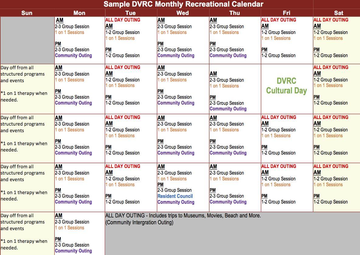 SAMPLE CALENDAR – Sample Calendar