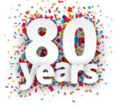 80 years image linking to We are 80 page