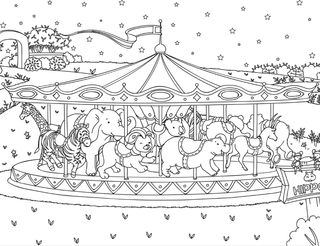 Night Night Zoo Coloring Pages