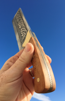 How to easily make a DIY Celtic Cleaver knife with etched spine. FREE step by step instructions. www.DIYeasycrafts.com