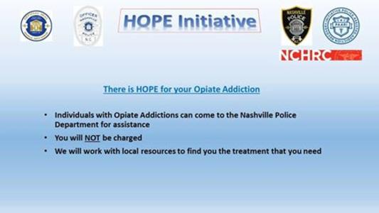 Hope Initiative press release, Nashville NC