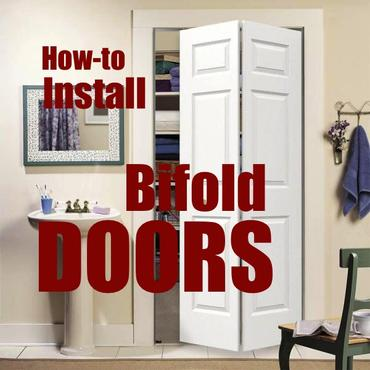 How to easily install bifold and trifold doors into any standard door opening. www.DIYeasycrafts.com