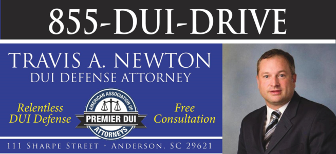 Travis A. Newton DUI Defense Attorney Anderson South Carolina