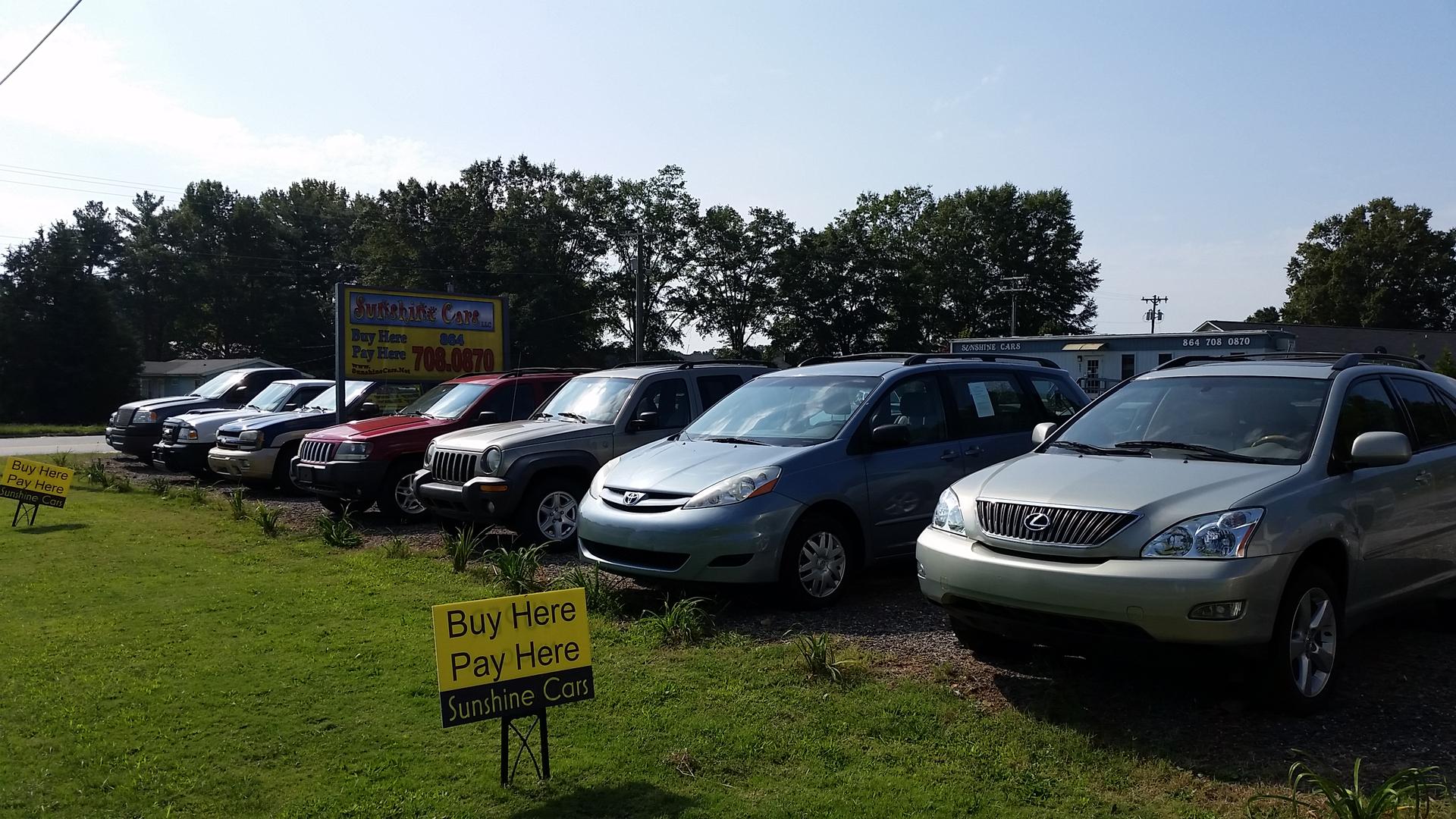 Sunshine cars llc sales financing used car financing