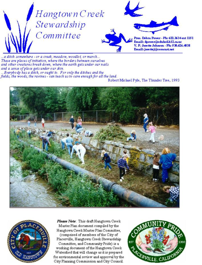 Hangtown Creek Master Plan Placerville Community Pride Volunteers Archives Josette Johnson http://www.josettejohnson.com