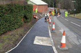Minely Barracks Footpath construction