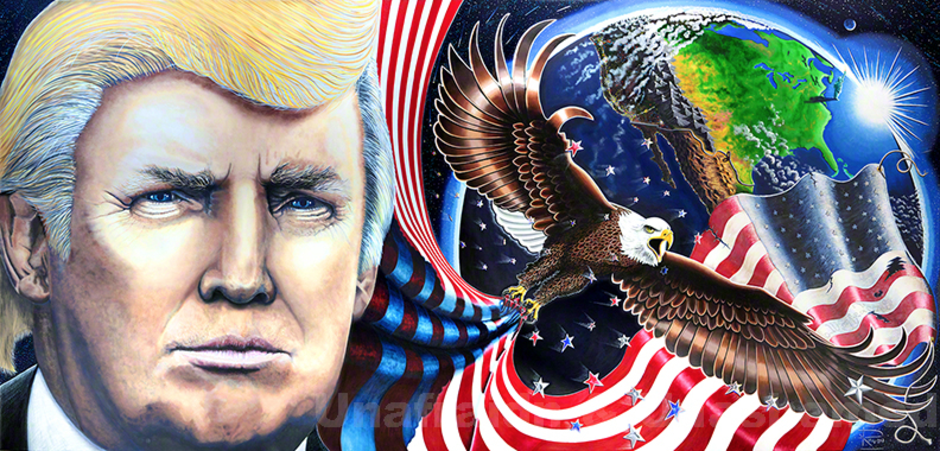 The Trump Painting & Trump Portrait 'Unafraid And Unashamed' By Julian Raven